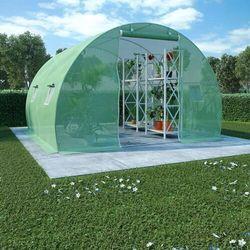 VidaXL Szklarnia ogrodowa ze stalową konstrukcją, 9m², 300x300x200cm