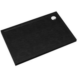 Brodzik akrylowy Sched-Pol Alta prostokątny 80 x 120 x 4,5 cm czarny