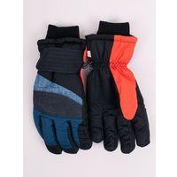 Odzież do sportów zimowych, Rękawiczki narciarskie męskie grantowo-szare 22
