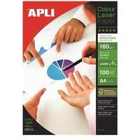 Papiery fotograficzne, Papier fotograficzny APLI Glossy Laser Paper, A4, 160gsm, błyszczący, 100ark.