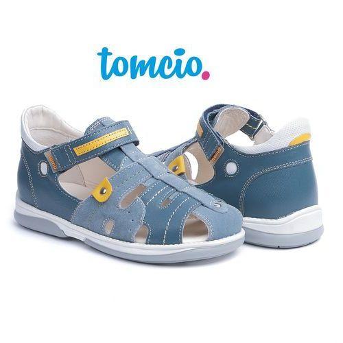 Pozostała moda, Sandały profilaktyczne Memo Palermo 3CH kolor dżinsowy