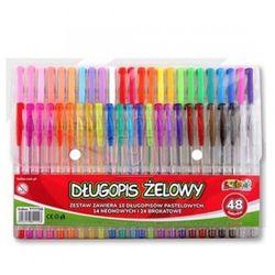 Kolori długopisy żelowe 48 kolorów (brokat/pastel/neon)