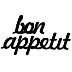 Napis na ścianę BON APPETIT czarny BONAPPETIT1-1