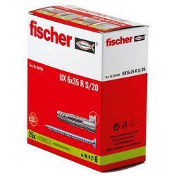 Kołek rozporowy uniwersalny Fischer 94758 UX, 6 x 35 mm, nylon, 25 szt.