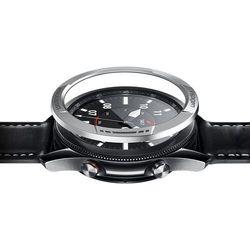 Nakładka Spigen Chrono Shield do Galaxy Watch 3 45mm Silver
