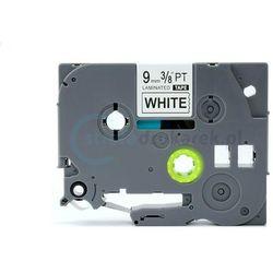 Taśma do brother flexi tze-fx-221 biała/czarny nadruk 9mm x 8m zamienn
