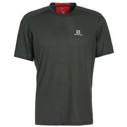 Salomon TRAIL RUNNER Tshirt z nadrukiem urban chic/fiery red