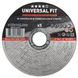 Zestaw tarcz do cięcia metalu Universal fit 125 x 1 mm 5 szt.