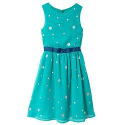 Sukienka na uroczyste okazje, z brokatowym połyskiem bonprix matowy turkusowy z nadrukiem