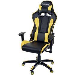 Fotel biurowy GIOSEDIO czarno-żółty,model GSA413
