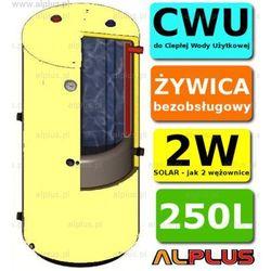 Ermet SOLAR 250l surowy pionowy bojler dwupłaszczowy, wymiennik zbiornik ogrzewacz CWU bezobsługowy, jak 2W, DOSTAWA GRATIS