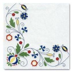 Serwetki - wzory folkowe - hafty kaszubskie
