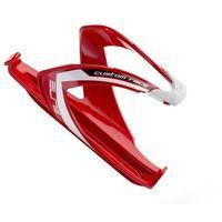 Bidony i koszyki, EL0061684 Koszyk na bidon ELITE CUSTOM RACE czerwony z białym logo