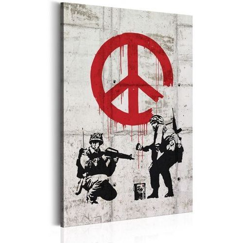 Obrazy, Obraz - Soldiers Painting Peace by Banksy