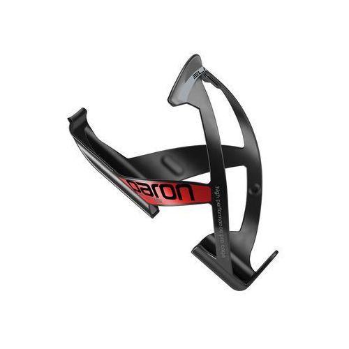 Bidony i koszyki, EL0101513 Koszyk na bidon ELITE PARON RACE czarny z czerwoną grafiką