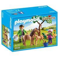 Klocki dla dzieci, Playmobil COUNTRY Kucyk mama ze źrebaczkiem 6949