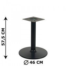 Podstawa stolika NY-B006, czarna, wysokość 57,5 cm (stelaż stolika, stołu)