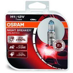 OSRAM H1 12V 55W P14,5s NIGHT BREAKER® UNLIMITED (do +110% więcej światła, do 35m-40m dłuższy zasięg,do +20% bielsze światło)