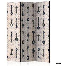 SELSEY Parawan 3-częściowy - Styl retro: Srebrne łyżki
