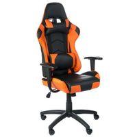 Fotele dla graczy, Fotel gamingowy RACER CorpoComfort BX-3700 Pomarań