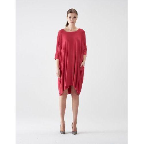 Suknie i sukienki, Sukienka su127 (Kolor: brązowy, Rozmiar: Uniwersalny)