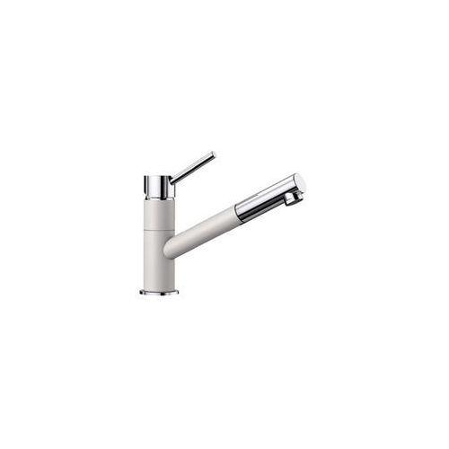Baterie do kuchni, Bateria BLANCO KANO-S Silgranit-Look Biały/Chrom (525040)