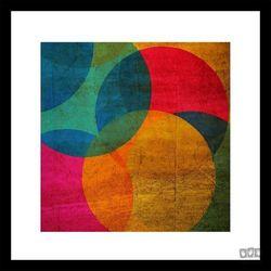 Obraz w ramie Kolorowe okręgi 41-322