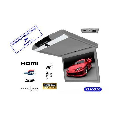 "Monitory samochodowe, NVOX RF173HDMI GR Monitor podwieszany podsufitowy LCD 17"" cali LED FULL HD HDMI USB SD IR FM"