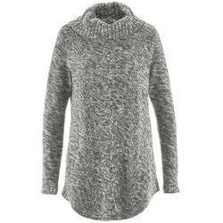 Sweter poncho, długi rękaw bonprix antracytowy melanż