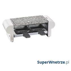 Grill stołowy raclette Küchenprofi Hot Stone biały