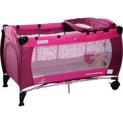 Łóżeczko turystyczne CARETERO Medio Classic różowy + DARMOWY TRANSPORT!