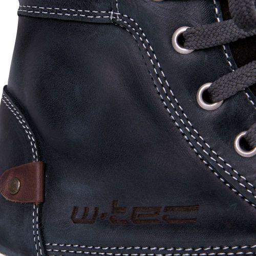 Buty motocyklowe, Buty motocyklowe skórzane W-TEC Sneaker 377, Ciemnoniebieski, 43