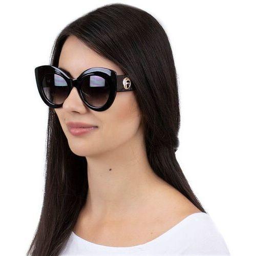 Okulary przeciwsłoneczne, Okulary przeciwsłoneczne damskie kocie oko czarne