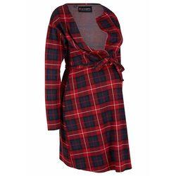 Sukienka ciążowa i do karmienia piersią bonprix ciemnoniebiesko-czerwony w kratę