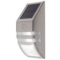 Kinkiet zewnętrzny ogrodowy solarny Rabalux Riejka 1x0,15W + 1x0,5W LED IP44 inox 8783