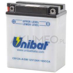 Akumulator UNIBAT CB12A-A/SM 12V 12Ah 165A lewy+ oL