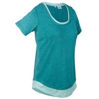 Pozostała odzież sportowa, Shirt sportowy 2 w 1, krótki rękaw bonprix matowy kobaltowy melanż