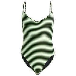 Les Girls Les Boys STRIPE SWIMSUIT Kostium kąpielowy pea green/black