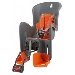 POLISPORT fotelik rowerowy Bilby, szary/pomarańczowy
