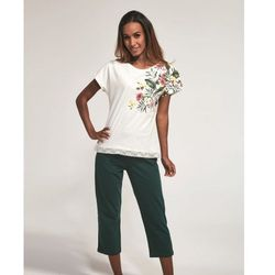 Bawełniana piżama damska Cornette 369/168 Lillian ecru