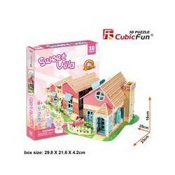 Puzzle 3D Sweet Villa Domek dla lalek 84 elementy. Darmowy odbiór w niemal 100 księgarniach!