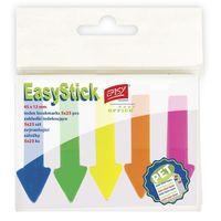 Karteczki, Karteczki samoprzylepne EASY 837953 neonowe 5 kolorów (45 x 12 mm)