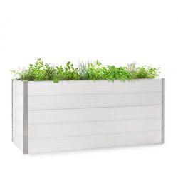 Blumfeldt Nova Grow, podniesiona grządka, 195 x 91 x 100 cm, WPC, imitacja drewna, biała
