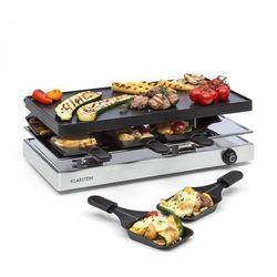 Klarstein Gourmette raclette 1200W płyta grillowa z aluminium 8 osób obudowa ze stali nierdzewnej