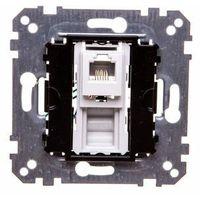 Gniazdka, Merten System M Gniazdo telefoniczne pojedyncze RJ12 (6styków) mechanizm MTN463500