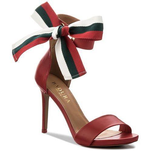 Sandały damskie, Sandały BADURA - 4646-69 Czerwony 1207