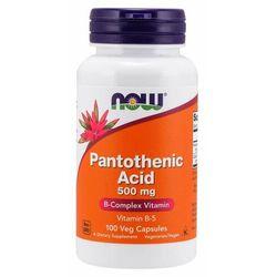 NOW Foods Kwas pantotenowy 500 mg 100 kaps