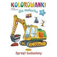 Książki dla dzieci, Sprzęt budowlany. kolorowanki dla malucha (opr. miękka)