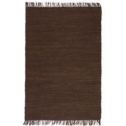 Ręcznie tkany dywanik Chindi, bawełna, 160x230 cm, brązowy