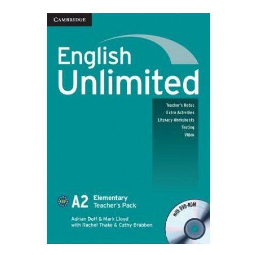 Książki do nauki języka, English Unlimited Elementary Teacher's Pack (Teacher's Book with DVD-ROM) (opr. miękka)